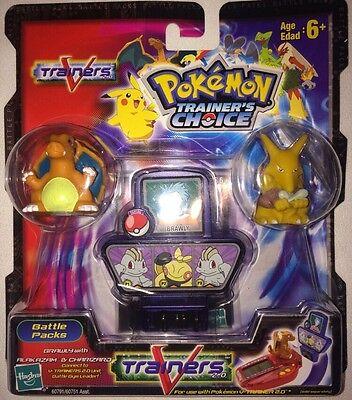 Pokemon Trainers Choice V Trainers Figures Alakazam Charizard Brawly Hasbro 2004
