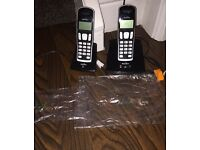 Binatone twin cordless home handsets with answer machine *as good as new*
