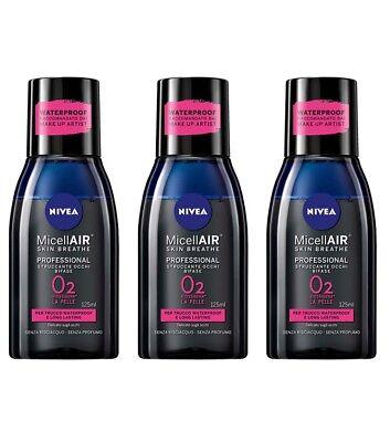 3pz NIVEA Micellair Piel Breathe Profesional Removedor Ojos Fase Dos 125ml