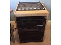 Music studio custom built rack case