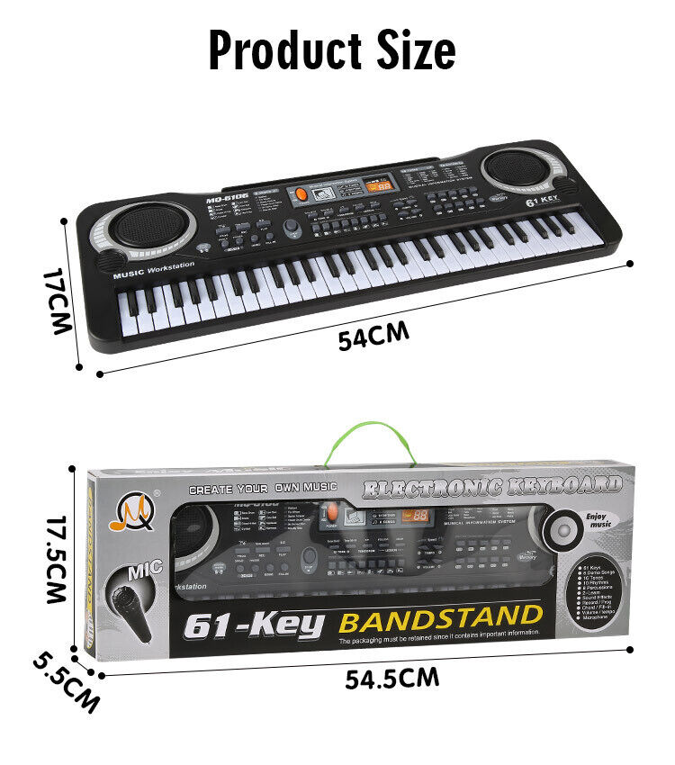 61 Key Keyboard Piano for Kids Children Portable Electric Or