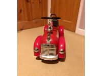 Retro Hook and Ladder metal children's ride on fire engine