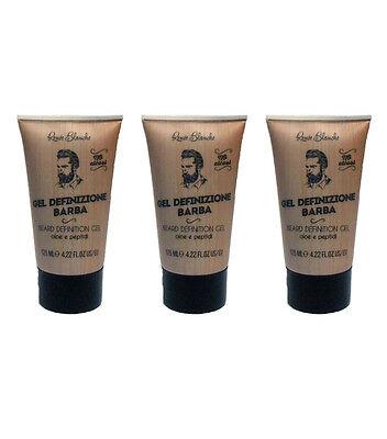 3pz RENEE BLANCHE Gel Definizione Barba 125ml NUOVI prodotti rasatura
