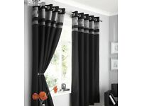Black and silver curtains 90x90
