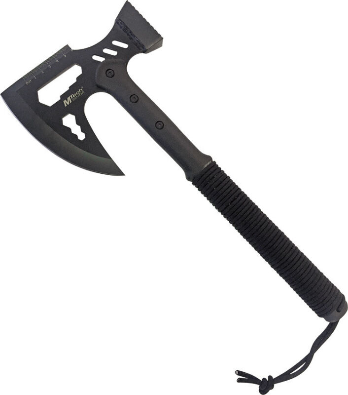 """Mtech Survival Axe Knife MT-AXE14 16 3/4"""" overall. 6 3/4"""" black finish stainless"""