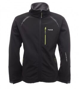 REGATTA MENS SOFTSHELL JACKET HARVEY  BLACK & CLOVE