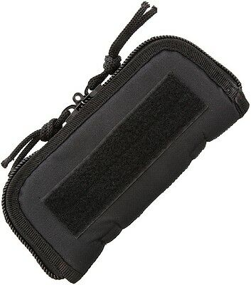"7"" X 3"" (exterior) ZIP UP CASE FOR ONE FOLDING KNIFE, PADDED BLACK CORDURA AC181"