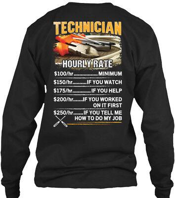 Awesome Long Sleeve T-shirt - On trend Awesome Technician - Hourly Rate Gildan Long Sleeve Tee T-Shirt
