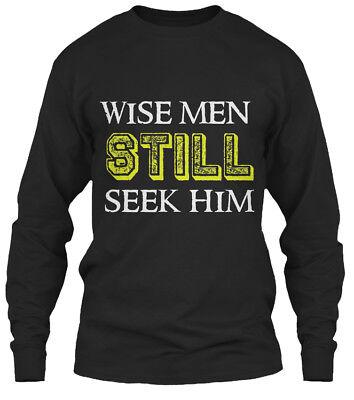 Wise Men Still Seek Him Christian Christmas Gildan Long Sleeve Tee (Wise Men Still Seek Him T Shirt)