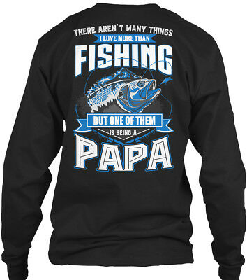 Fishing Papa -best Present For Fishermen - There Gildan Long Sleeve Tee