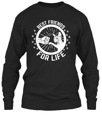 Printed Sphynx Cat Best Friends For Life Gildan Gildan Long Sleeve Tee