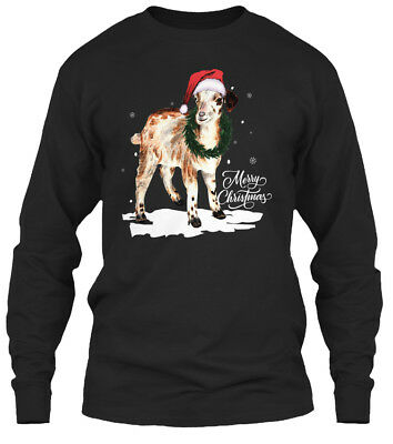 Goat Gifts For Merry Christmas Gildan Long Sleeve Tee T-Shirt ()