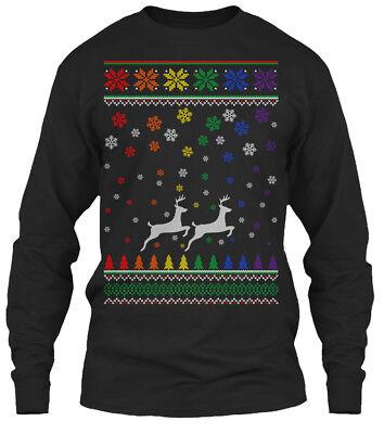 Gay Christmas Sweaters (Lgbt Gay Pride Christmas Sweater Gildan Long Sleeve Tee)