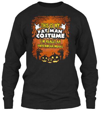 Funny Halloween Costume Fat Man Un - This Is My Gildan Long Sleeve Tee T-Shirt