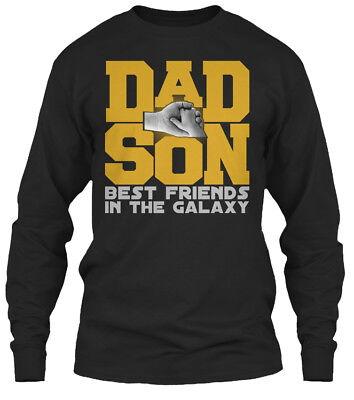 Dad And Son Best Friends In The Galaxy - Gildan Long Sleeve Tee - Best Friends Long Sleeve T-shirt