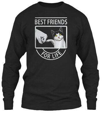 Funny Cat T Best Friends For Lif - Life Gildan Long Sleeve Tee