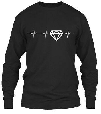 Diamond Heartbeat Gildan Long Sleeve Tee T-Shirt