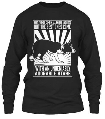 Best Friends Border Collie - Come In All Sizes Gildan Long Sleeve Tee - Best Friends Long Sleeve T-shirt