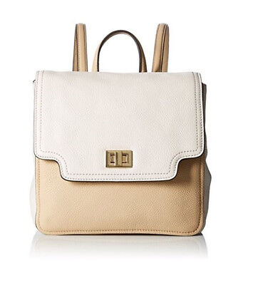 BRAND NEW CALVIN KLEIN WOMEN'S ASHLEY LEATHER BACKPACK WHITE/ NUDE MSRP $268.00