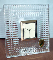 Waterford Crystal Lismore Diamond Bedside Desk Clock 40000186 New In Box