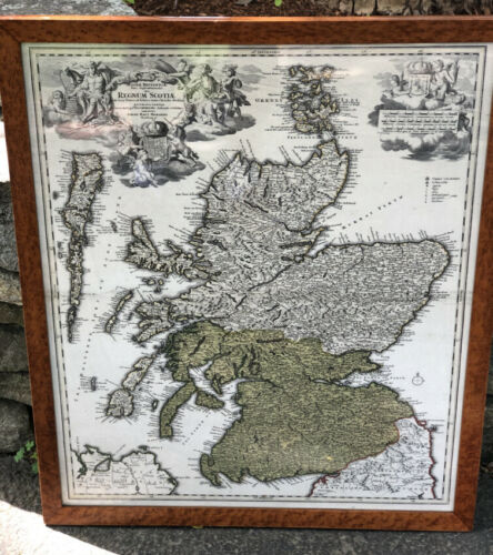 Original Regnum Scotia map of Scotland Ireland copied Johann Baptiste Homanno