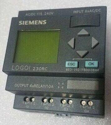 Siemens Logo 230rc Plc 6ed1-052-1fb00-0ba4 Logic Module