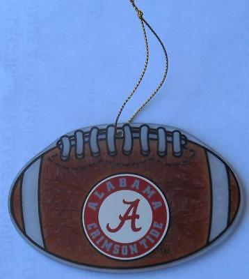 NEW Alabama Crimson Tide Football Art Glass Ornament by The Memory Company, 4