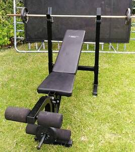 Gym Bench Set (incl. Gym Weight Plates, Dumbell set and Barbell) Wheelers Hill Monash Area Preview