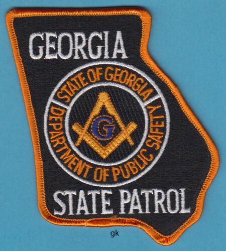 GEORGIA STATE SHAPE PATROL DPS MASON MASONIC POLICE SHOULDER PATCH