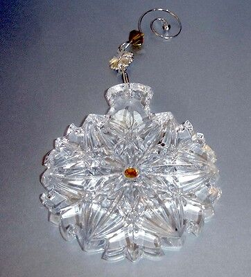 Waterford Crystal Snowflake Wishes Christmas Ornament 2014 #154682 New