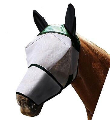 Derby Originals Fly Mask with Ears and Nose Cover Full Horse Size Closeout Sale