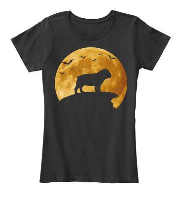 Halloween Costumes For Dog, Bulldog Women's Premium Tee T-Shirt