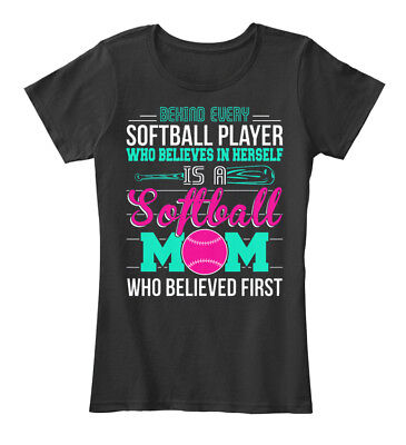 Great gift Softball Mom - Behind Every Player Who Women's Premium Tee (Top Softball Players)