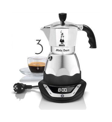 BIALETTI | Moka Timer 3 Tazze Caffettiera Espresso Elettrica 220V
