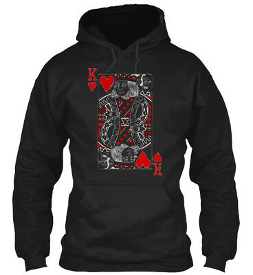 King Of Hearts Valentines Day His And H - K Gildan Hoodie Sweatshirt - Valentines Day Hearts
