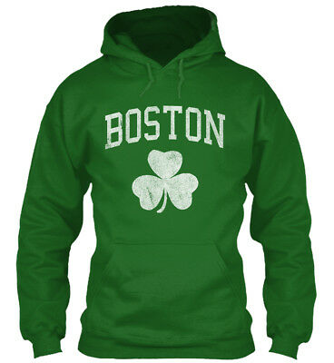 - Boston Irish Shamrock - Gildan Hoodie Sweatshirt