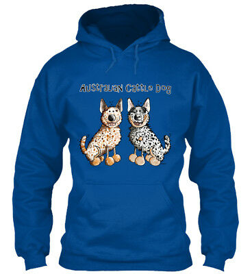 Two Funny Australian Cattle Dogs Dog T - Gildan Hoodie - Two Funny Dogs