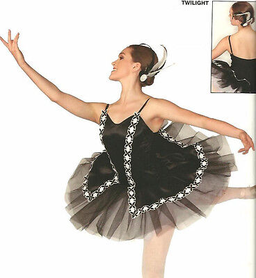 Twilight Dance Costume Black Swan Lake Ballet Tutu Ballerina CL & AXL New - Black Swan Costumes