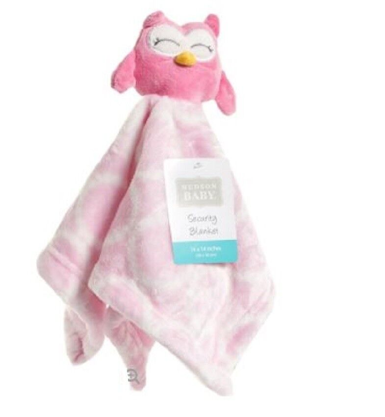 Hudson Baby Pink Owl Baby Girl Security Blanket New Lovey