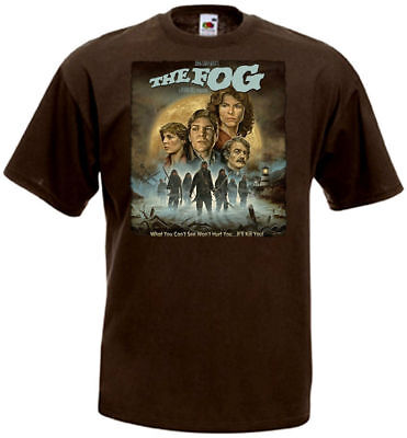 Movie 4t (The Fog ver.4 T-shirt chocolate Movie Poster all sizes)