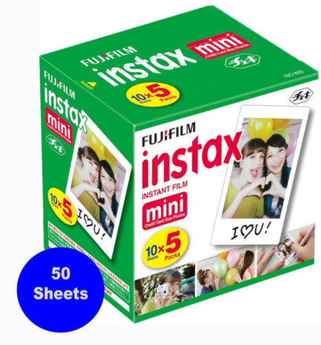 50 Prints Fujifilm Instax Mini Instant Film for 8,9,11 and all Fuji Mini Cameras
