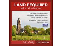 Building Plots and Land required with Planning Permission