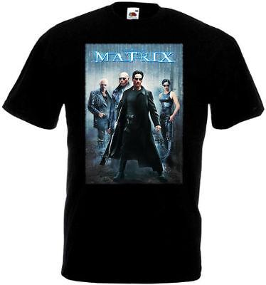Movie 4t (Matrix v4 T shirt black movie poster all sizes)