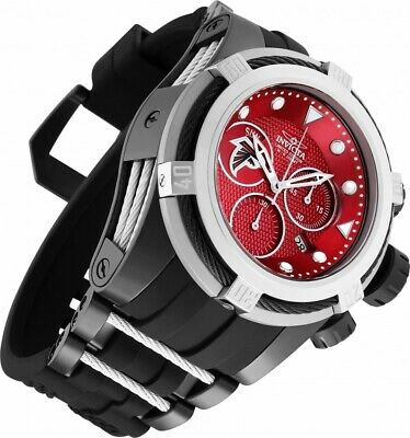NWT Invicta 52mm Bolt Zeus NFL OFFICIAL ATLANTA FALCONS Z60 Chrono Strap Watch