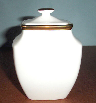 Lenox Eternal White Square Sugar Bowl With Lid Gold Banded $121 New Square Sugar Bowl