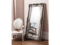 New 6x3ft Westminster silver carved mirror NOW ONLY £169 LAST FEW