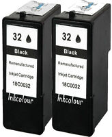 2 No Recambio Apto Para Lexmark 32 X5200 X5210 Cartucho De Tinta Negra -  - ebay.es