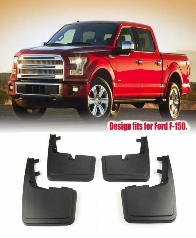 Splash Guards Mud Flaps 4 PCS for Ford F-150 2018 W// Fender Flares Wheel Lips