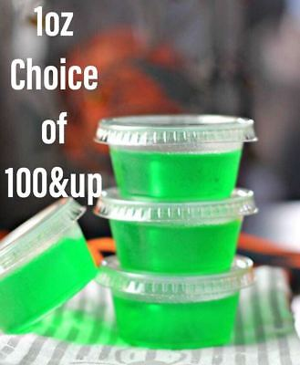1oz~100&up Large Jello Jelly Shot Souffle Portion Cups with Lids Option~