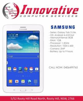 """SAMSUNG Galaxy Tab 3 Lite 7"""" 8GB WiFi Android Tablet (WHITE) NEW!"""